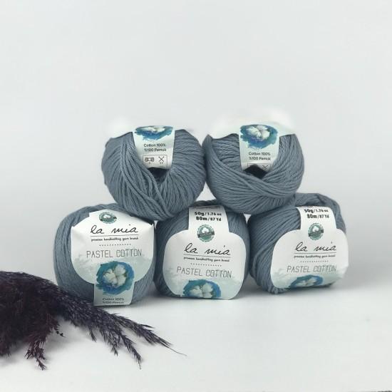La Mia 250 gr Pastel Cotton El Örgü İpi