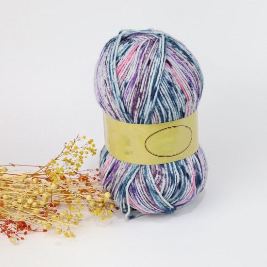 200 gr %75 Yünlü Wool But Ebruli İhraç Fazlası El Örgü İpi