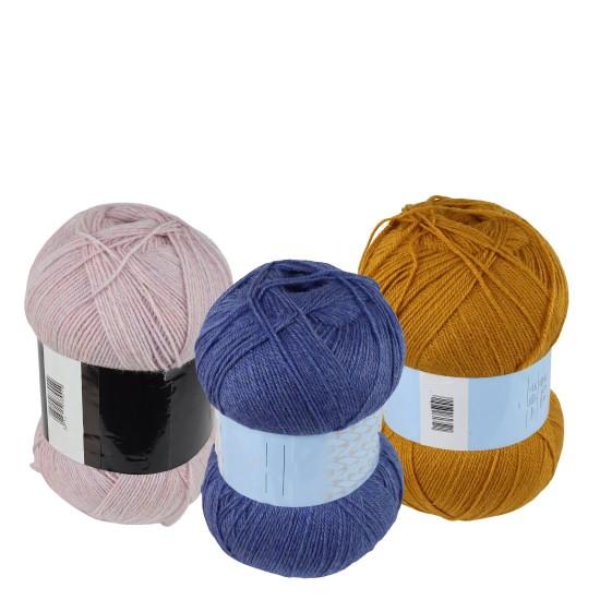 370 - 400 gr %25 Yünlü Aran Wendy Wool İhraç Fazlası El Örgü İpi
